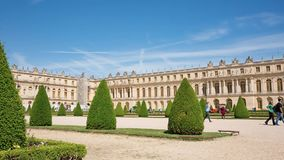 Royal Palace in Versailles stock video footage
