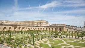 The Royal Palace in Versailles stock footage