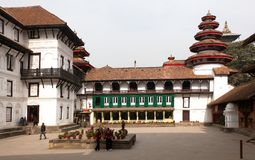 Royal Palace viejo, cuadrado de Durbar en Katmandu Foto de archivo libre de regalías