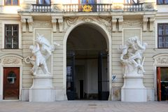 Royal Palace in Vienna Stock Photos