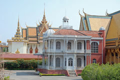 Royal Palace, villa de Napoleon, Phnom Penh, Cambodge Photo stock