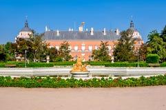 Royal Palace von Aranjuez, Madrid Vororte, Spanien lizenzfreies stockbild