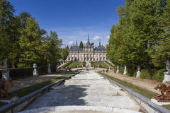 Royal Palace von La Granja de San Ildefonso Stockfotografie