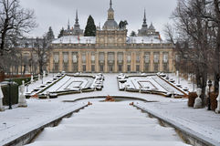 Royal Palace von La Granja de San Ildefonso, Segovia, Spanien Lizenzfreies Stockfoto