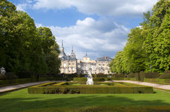 Royal Palace von La Granja de San Ildefonso, Spanien Stockfotografie