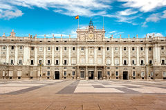 Royal Palace von Madrid Stockfotografie