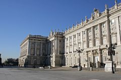 Royal Palace von Madrid Stockfoto