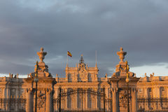 Royal Palace von Madrid Stockbilder