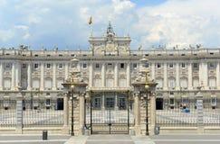 Royal Palace von Madrid, Spanien Lizenzfreie Stockfotografie