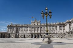 Royal Palace von Madrid, Madrid, Spanien lizenzfreies stockfoto