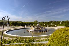 Royal Palace von Versailles, von historischem Monument und VON UNESCO-Welterbest?tte stockbild