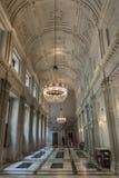 Royal Palace w Amsterdam korytarzu Obrazy Stock