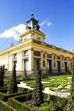 Royal Palace w Warszawa w Wilanow, Polska Obrazy Royalty Free