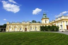 Royal Palace w Warszawa Wilanow, Polska Obraz Stock