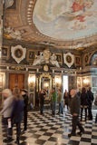 Royal palace in Warsaw inside Stock Image