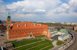 Royal palace, Warsaw, Poland. Old royal palace from above, Warsaw, Poland Royalty Free Stock Image