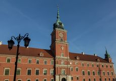 Royal Palace in Warsaw, Poland. Front of Royal Palace in the Old Town of Warsaw, Poland Royalty Free Stock Photography