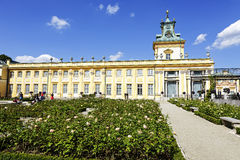 Royal Palace in Warsaw's Wilanow in Poland Stock Photos