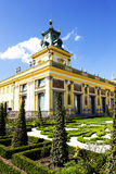 Royal Palace in Warsaw in Wilanow, Poland Royalty Free Stock Images