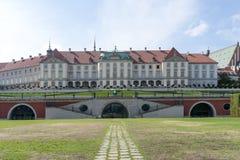 Royal Palace in Warshau Stock Afbeelding