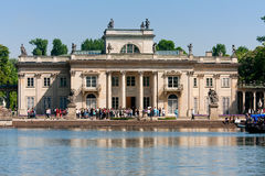 Royal Palace on the Water in Lazienki Stock Images