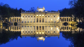 Royal Palace on the Water in Lazienki Park Stock Photos