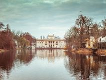 Royal Palace on the Water in Lazienki Park Royalty Free Stock Image