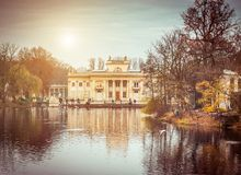 Royal Palace on the Water in Lazienki Park Stock Photo