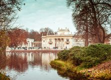 Royal Palace on the Water in Lazienki Park Royalty Free Stock Photography