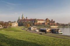 Royal Palace on Wawel Hill Stock Photo