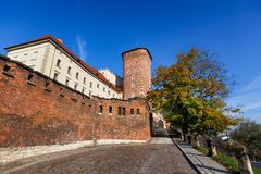 Royal palace in Wawel in Krakow Royalty Free Stock Photo