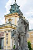 Royal Palace Wilanow in Warsaw, Poland. Landmark of Wilanow palace and garden in Warsaw, Poland Stock Image