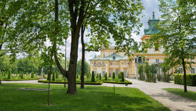 Royal Palace Wilanow in Warsaw, Poland. Landmark of Wilanow palace and garden in Warsaw, Poland Stock Photo
