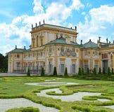 Royal Palace Wilanow in Warsaw, Poland. Landmark of Wilanow palace and garden in Warsaw, Poland Royalty Free Stock Image