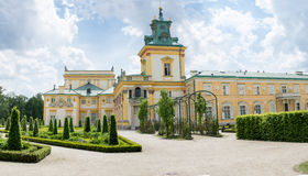 Royal Palace Wilanow in Warsaw, Poland Royalty Free Stock Images