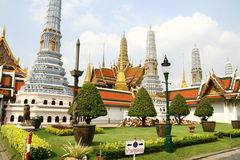 Royal Palace zone in Bangkok. Thailand Royalty Free Stock Photography