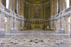 Royal Palatine Chapel, floor detail. Caserta, Italy, August 14, 2014: Royal Palatine Chapel, floor detail. It has been projected by Italian Architect Luigi Royalty Free Stock Image
