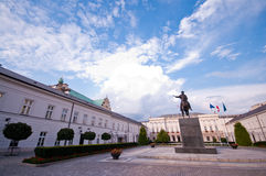 Royal Palce in Warsaw. Interior of Royal Palace with blue sky and cloudscape background, Warsaw, Poland Stock Photography