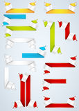 Royal Paper Banners and scrolls vector illustration