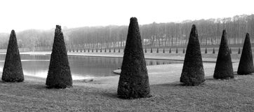 Royal park in France. Marly-le-Roi is a commune in the Yvelines department in the Île-de-France region in the western suburbs of Paris Stock Photo