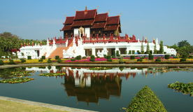 Royal park rajapruek with flowers, trees, landscaping, the most beautiful of Thailand. Stock Image