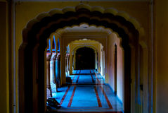 Royal passage at City Palace in Jaipur Rajasthan. Royalty Free Stock Photos