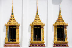 3 Royal patheism windows in Roayl Palace, Thailand Royalty Free Stock Photos