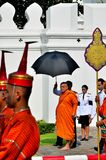 The royal Patriarch walking in the royal funeral Royalty Free Stock Photos
