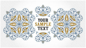 Royal pattern. In vintage style Royalty Free Stock Photography