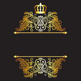 Royal pattern. With crown  on dark background Stock Photography