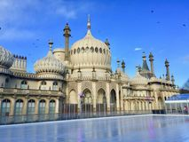 Royal Pavilion in Brighton in East Sussex in the UK. stock images