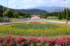 The Royal Pavilion (Ho Kham Luang) in Royal Park Rajapruek Royalty Free Stock Photography