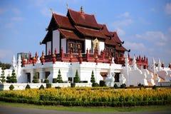 The Royal Pavilion (Ho Kham Luang) in Royal Park Rajapruek Stock Photo