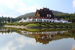 The Royal Pavilion (Ho Kham Luang) in Royal Park Rajapruek Royalty Free Stock Image